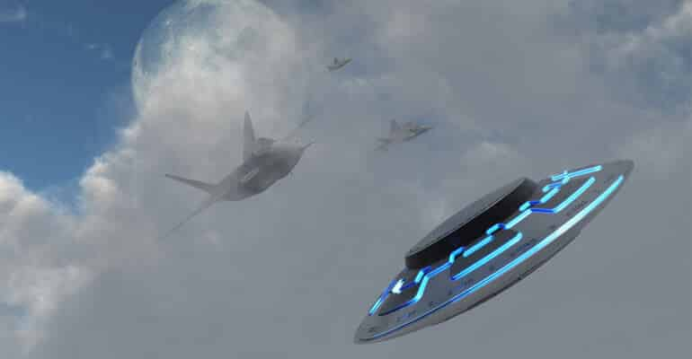 ufo chased by military jets