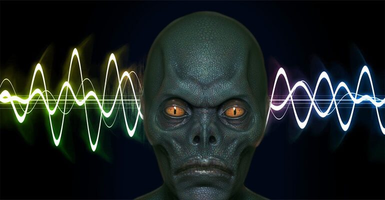 reptilian alien sound wave