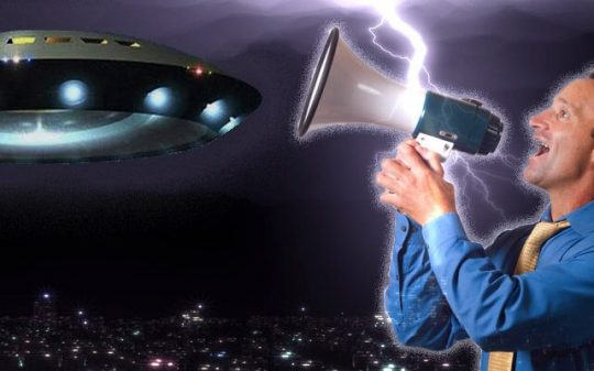 ufo summoned by man