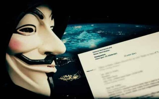 anonymous hacks nasa