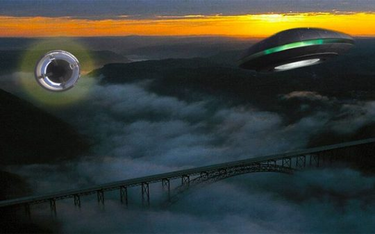 ufo ejected over bridge