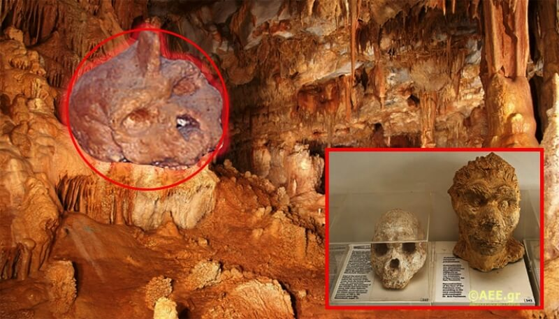 human skull found in cave