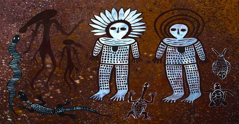 wandjina aboriginal pictographs 3