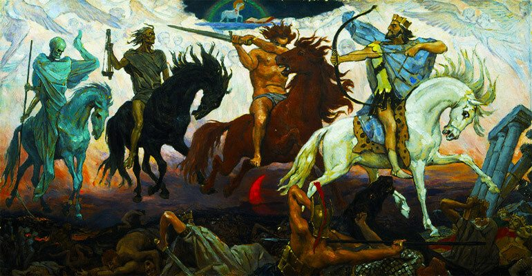 four horsemen The four horsemen of the apocalypse are a quartet of immensely powerful entities that personified the four prime concepts that drive the apocalypse they can manifest a human form, which can be harmed in manners identical to humans.