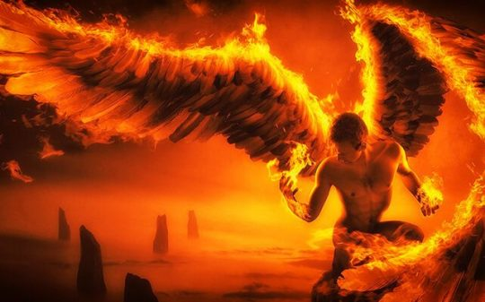 angel on fire