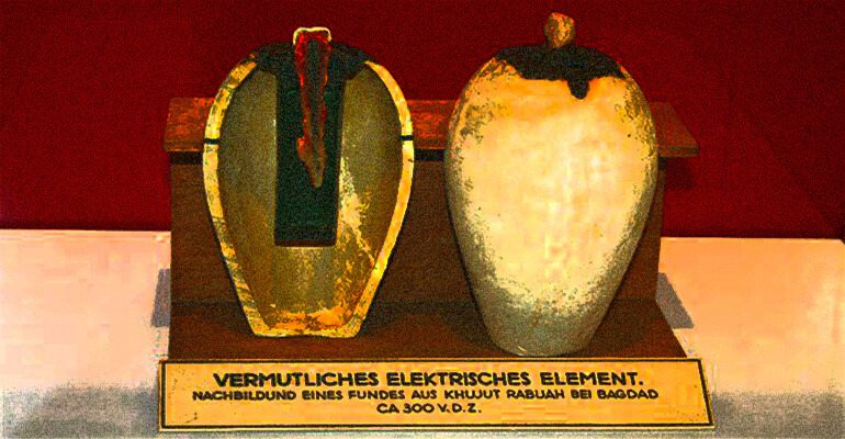 baghdad battery The baghdad battery or parthian battery is a set of three artifacts which were found together: a ceramic pot, a tube of copper, and a rod of iron it was discovered in modern khujut rabu.