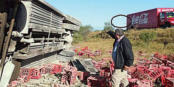 mexico ufo coca cola truck crash