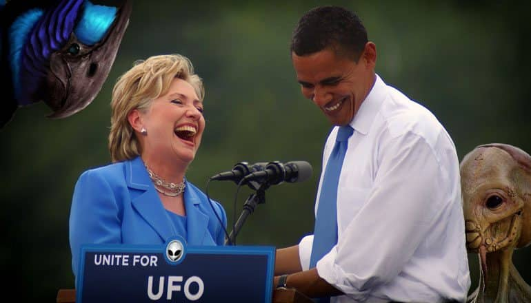 obama clinton admit aliens exist