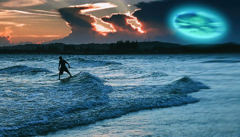 surfer films shapeshifting ufo