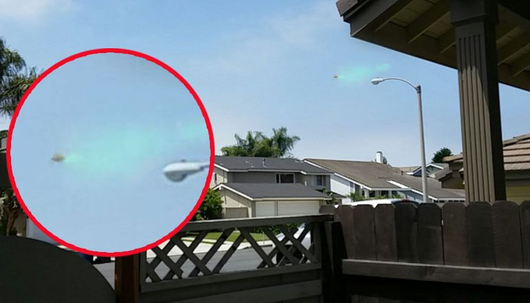 UFO Spraying Green Mist California