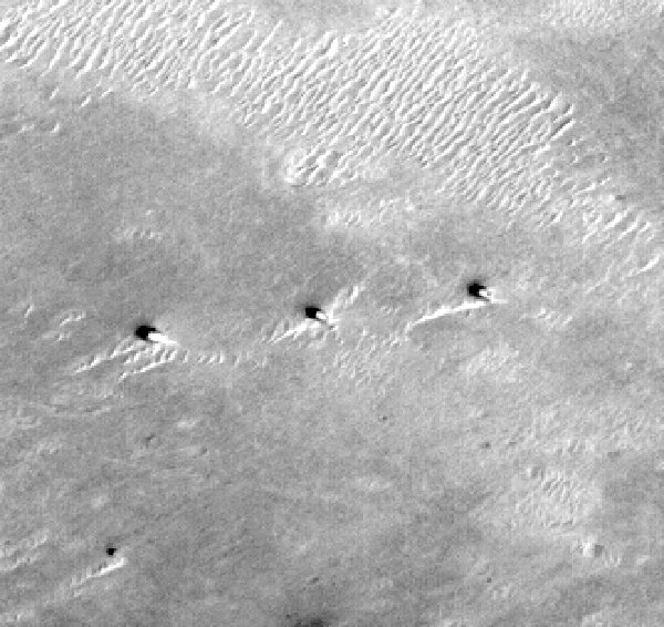 artificial towers on mars surface