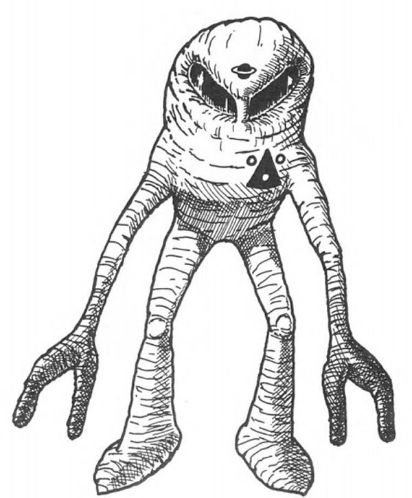 sketch of alien worker