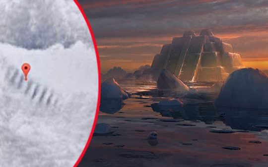 is This Huge Staircase in Antarctica A UFO Landing Spot?