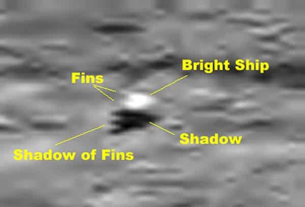 ship on moon surface