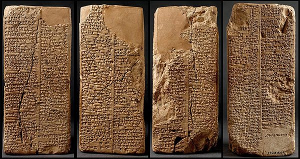sumerian king list clay