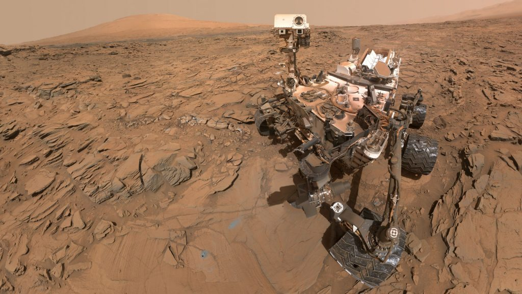 nasa rover curiosity on mars