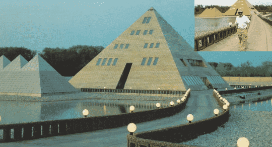 Man Builds Home in The Shape Of a Pyramid Made of Gold