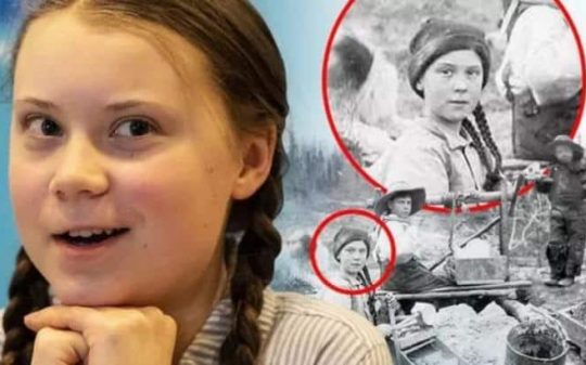 Why Was Greta Spotted in a 120 Year Old Photo?