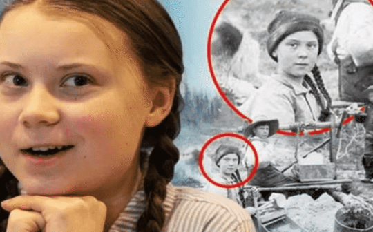 Greta Thunberg Spotted on 120-year-old Photo: Is She a Time Traveler?