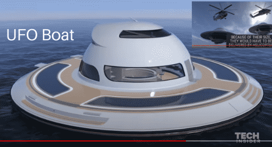 Floating UFO Boat is The Coolest Concept Boat You'll Ever See – By Far