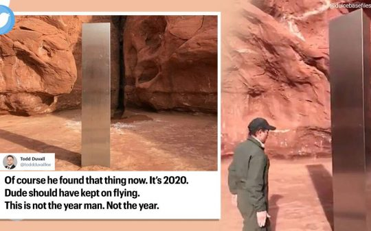 Monolith Discovered in Utah Has Eerie Similarities To Space Odyssey